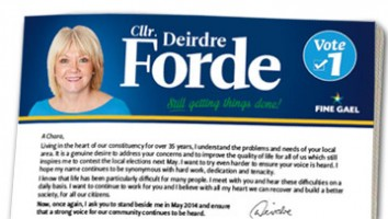Deirdre Forde Newsletter March 2014